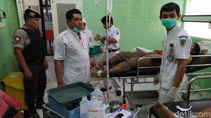 Korban yang dirawat di rumah sakit (Foto: Andhika Dwi Saputra)