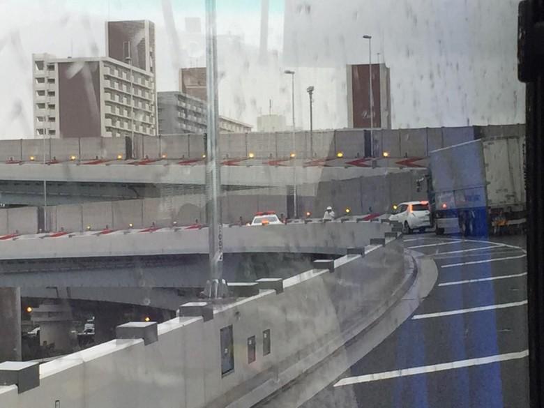 Jalanan di Jepang banyak ditutup Foto: Dadan Kuswaraharja/detikOto