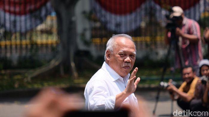 Foto: Basuki Hadimuljono merapat ke Istana (Andhika Prasetia/detikcom)