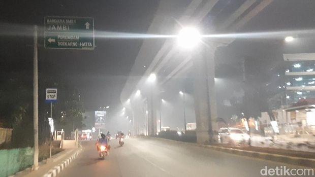 Kabut asap di Palembang, Selasa (22/10/2019)