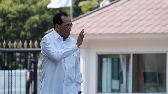 Foto: Budi Karya Sumadi ke Istana (Andhika Prasetia/detikcom).
