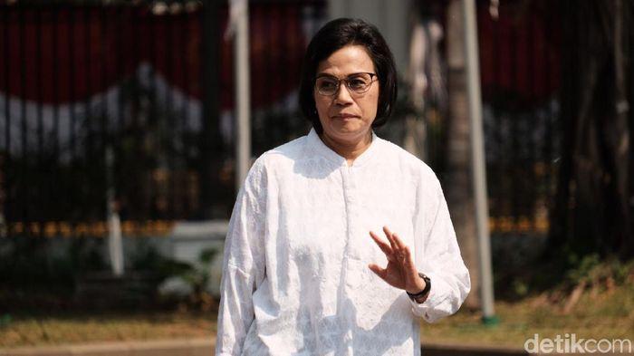 Foto: Sri Mulyani ke Istana (Andhika/detikcom)