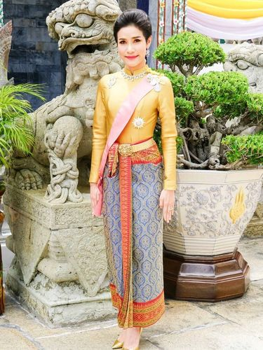 General Sineenat Wongvajirapakdi, the royal consort is seen in this undated handout photo obtained by Reuters, August 27, 2019. Thailand's King Maha Vajiralongkorn has stripped his newly named royal consort Sineenat of her titles and military ranks for being