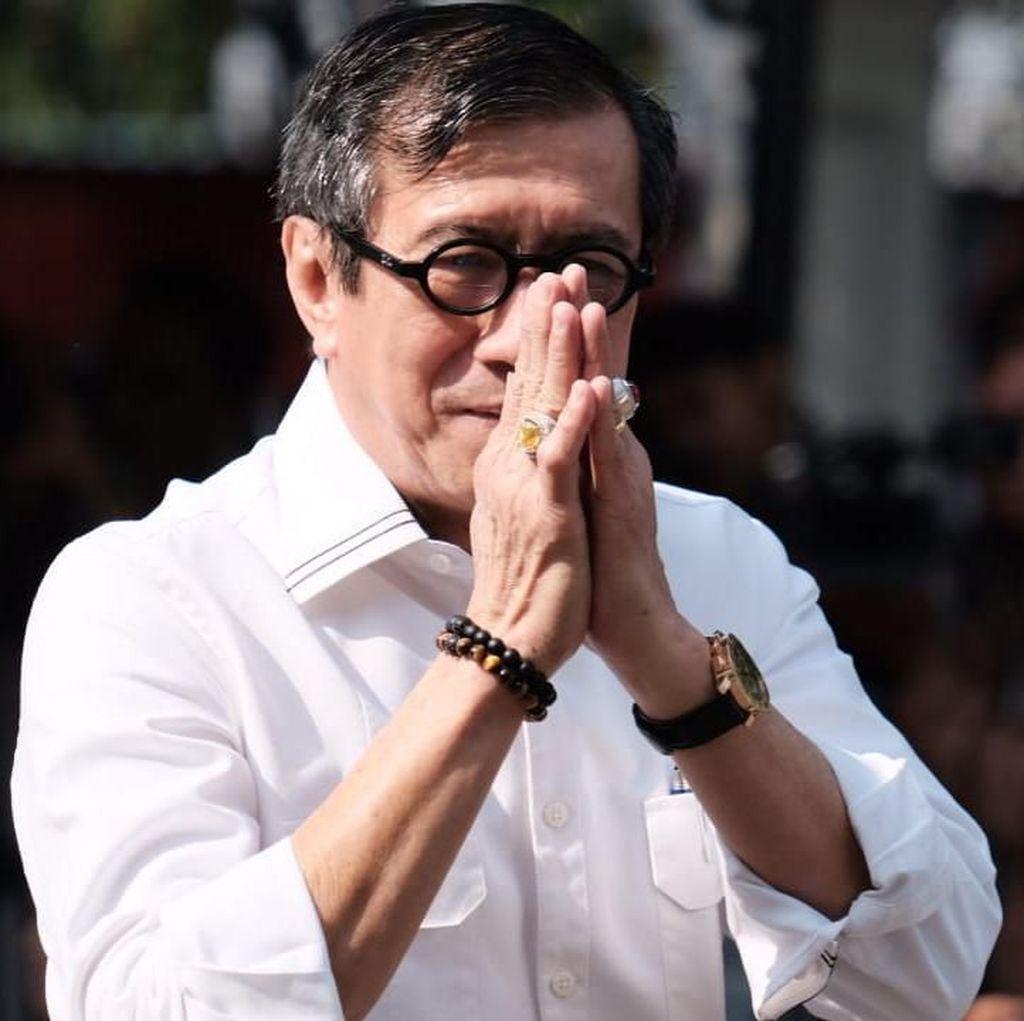 Yasonna Laoly Kembali Dipercaya Jokowi Jadi Menkum
