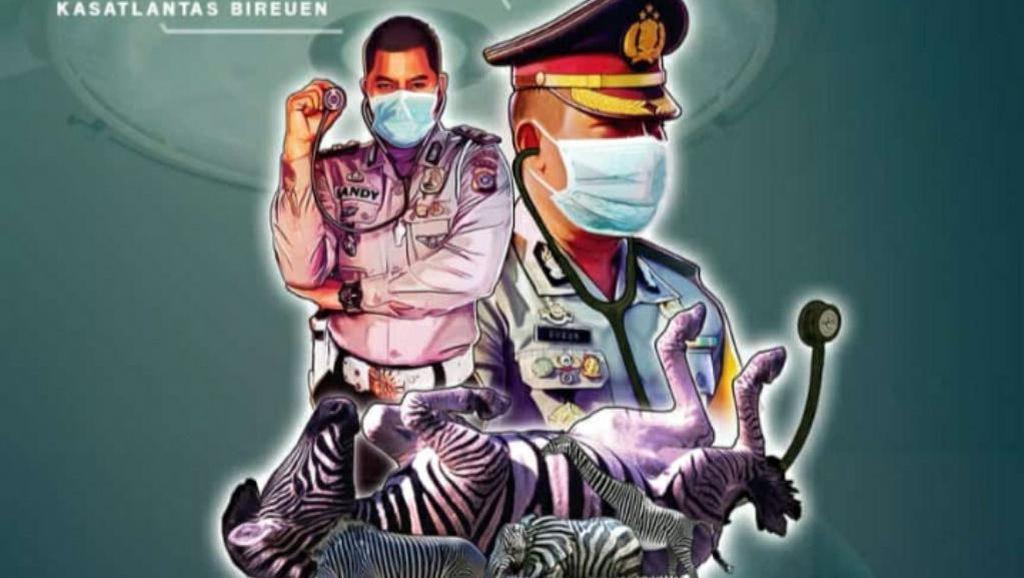 Gelar Operasi Zebra, Polisi di Aceh Obati Pelanggar Lalin Sampai Tertib