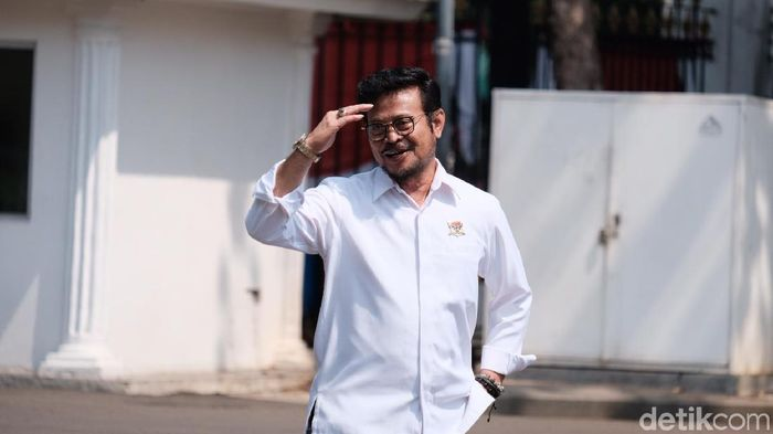 Foto: Syahrul Yasin Limpo merapat ke Istana (Andhika/detikcom)