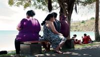 Selain termiskin di dunia, Nauru juga berperang dengan obesitas yang dialami oleh hampir semua warganya. (AFP)