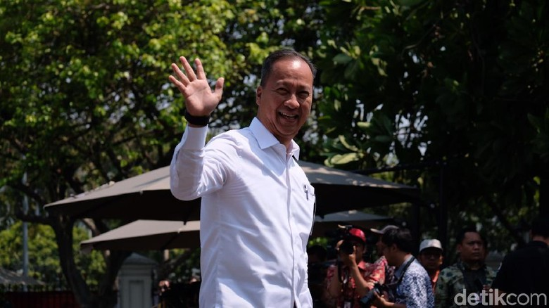 Foto: Agus Gumiwang Kartasasmita dipanggil Jokowi ke Istana (Andhika/detikcom)