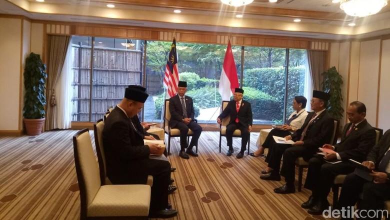 Bertemu Raja Malaysia, Maruf Singgung Perlindungan TKI-Wiranto Ditusuk