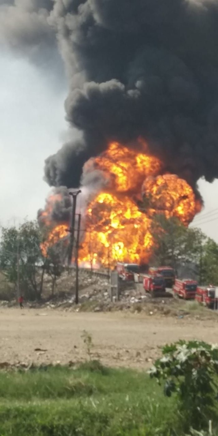 Kebakaran pipa Pertamina di Cimahi. (Foto: dok. Istimewa)