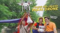 Bukan Pesan Pakai Ojol, Gen Halilintar Beli Bakso Pakai Drone dari Rumah