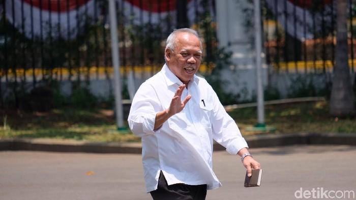 Basuki Hadimuljono merapat ke Istana (Andhika Prasetia/detikcom)