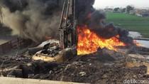 Melihat Situasi Terkini Lokasi Kebakaran Hebat Pipa Pertamina Cimahi