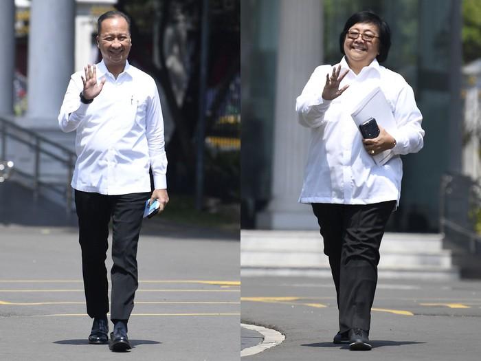Agus Gumiwang Kartasasmita dan Siti Nurbaya Bakar (Antara Foto/Puspa Perwitasari)