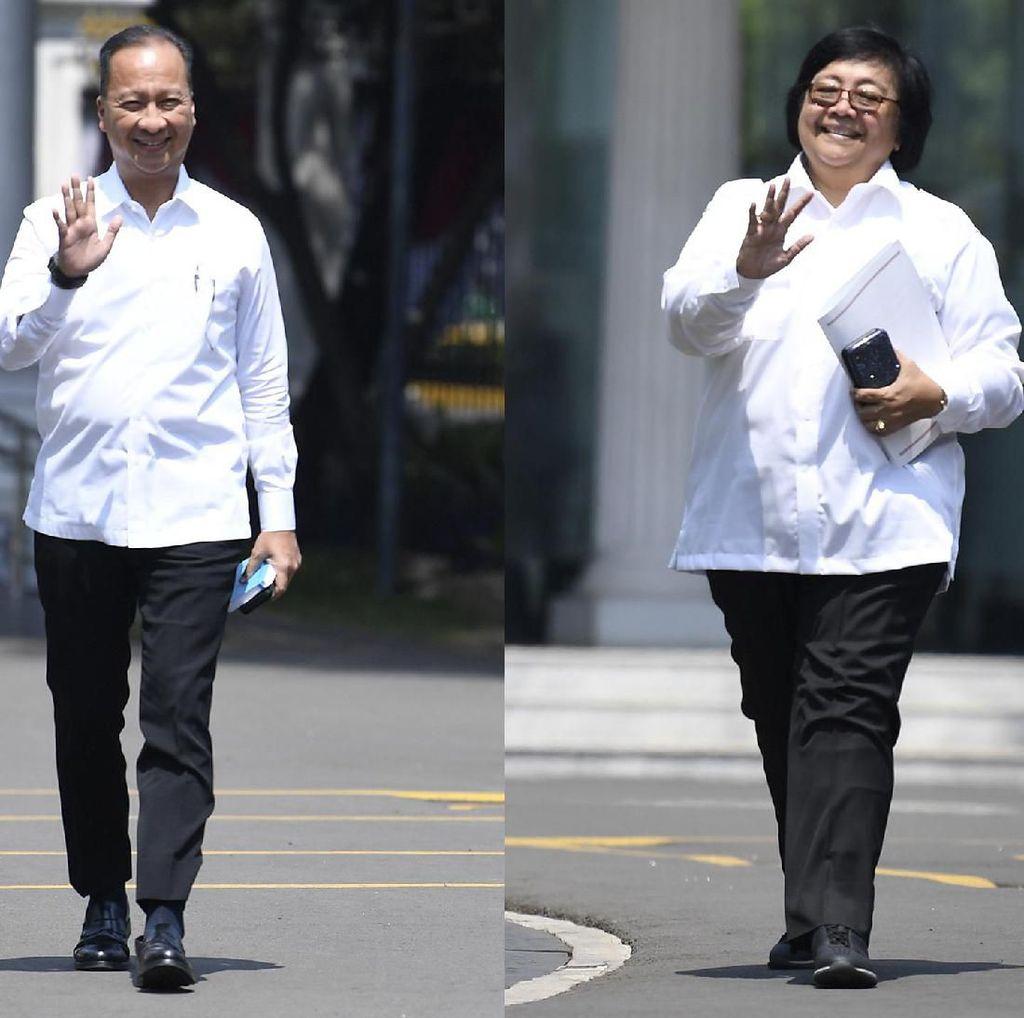 Senyum Agus Gumiwang dan Siti Nurbaya Dipanggil Jokowi ke Istana