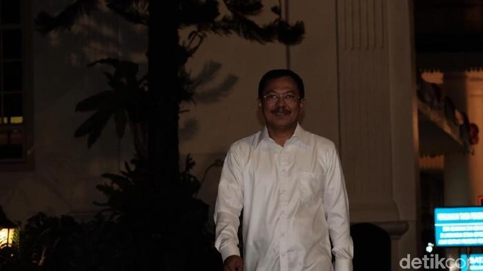 Kepala RSPAD dr. Terawan usai bertemu Presiden Jokowi di Istana, Jakarta. (Andhika-detikcom)