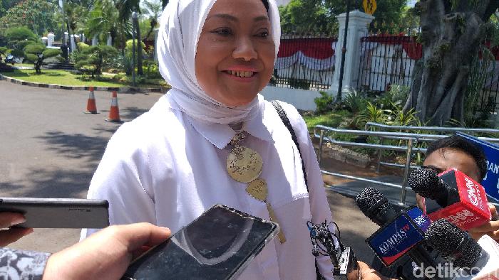 Foto: Ida Fauziah ke Istana (Kanavino/detikcom)