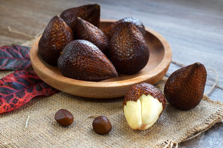Salak fruit is a tropical fruit native from Java island, Indonesia
