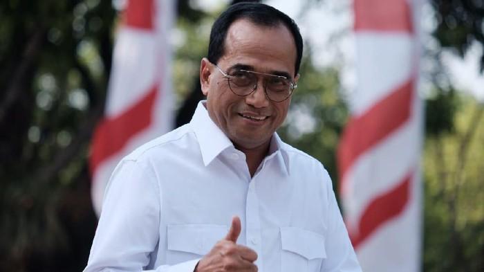 Budi Karya Sumadi ke Istana (Andhika Prasetia/detikcom).