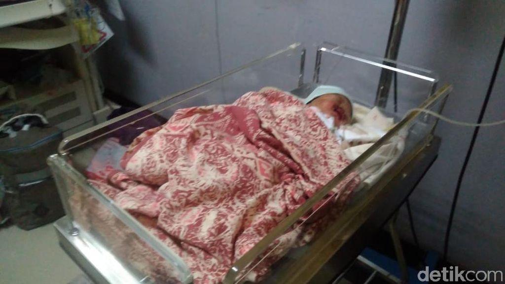 Miris, Bayi Penuh Luka Ditemukan di Pemakaman Dusun Krajan Karawang