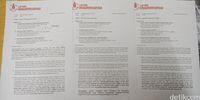Tiga surat somasi yang dikirimkan ke Anies, Kepala BKN V, dan Kadisdik DKI