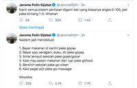 Komentar Lucu Jerome Polin soal Nadiem Jabat Mendikbud
