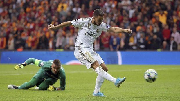 Eden Hazard masih kesulitan di Madrid.