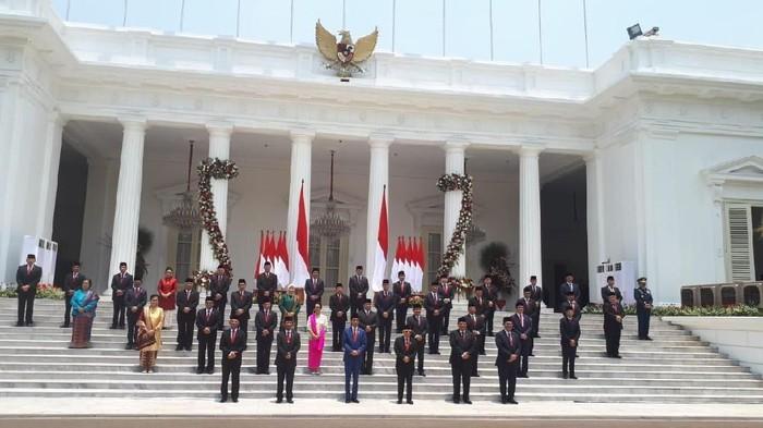 Jokowi bersama kabinet indonesia maju, menteri jokowi, menteri jokowi dan pasangan