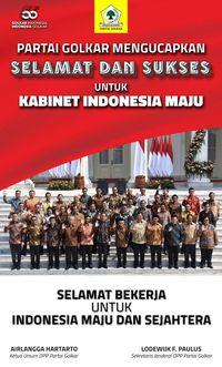 Golkar Sumbangkan Tiga Nama di Kabinet Kerja Indonesia Maju