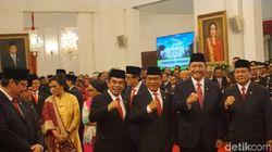 Momen Fachrul Razi-Prabowo Foto Bareng Jelang Pelantikan Menteri