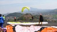 Inilah Batu Dua, yang berada di Desa Lingga Jaya, Kecamatan Cisitu, Sumedang. Destinasi ini terpilih jadi salah satu venue Kejuaraan Paralayang bertaraf internasional. (Mukhlis/detikcom)