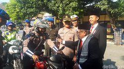 Polisi di Gresik Diwejang Presiden dan Wapres Sebelum Operasi Zebra Semeru