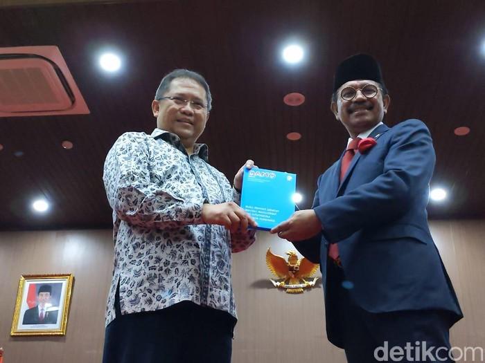 Sertijab Menkominfo dari Rudiantara ke Johhny G Plate. Foto: detikINET/Agus Tri Haryanto