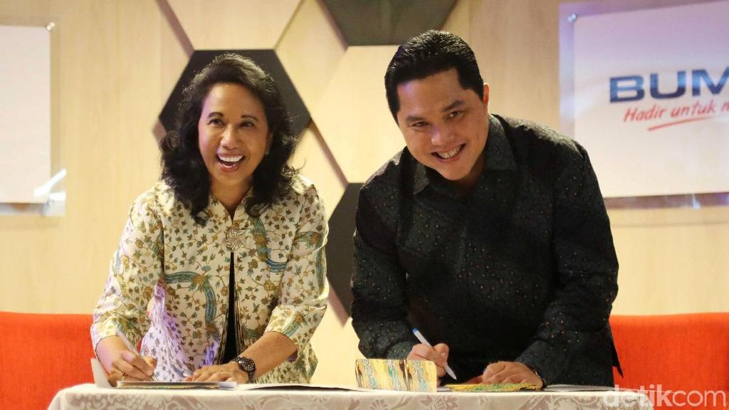 Rini Titip Super Holding BUMN ke Erick Thohir