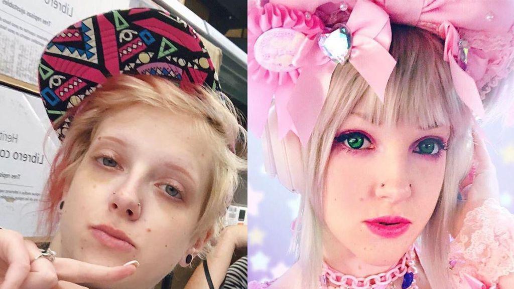 Foto: Transformasi Wanita yang Terobsesi Mirip Karakter Anime
