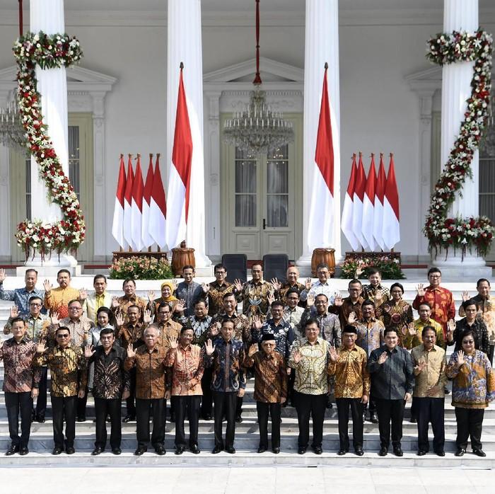 Menteri Kabinet Indonesia Maju (Foto: ANTARA FOTO/Wahyu Putro A)