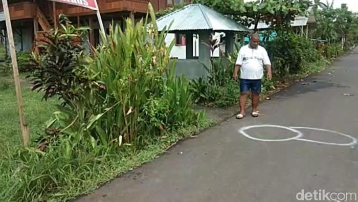 Lokasi siswa SMK di Manado menikam gurunya karena emosi ditegur saat merokok. (Ireine/detikcom)