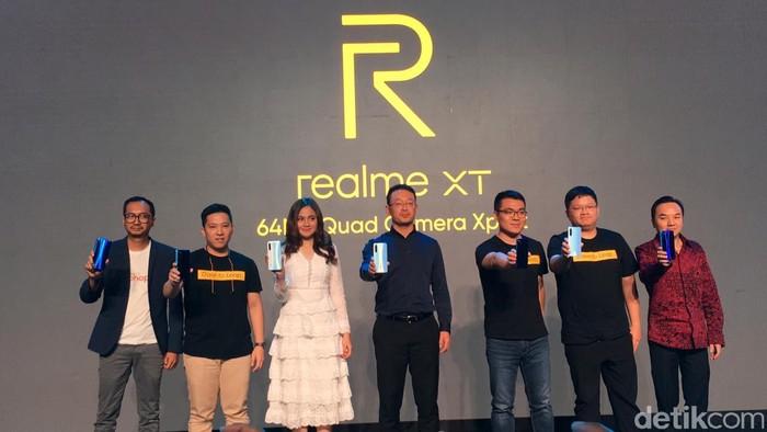 Peluncuran Realme XT. Foto: Arssy Firliani/detikINET