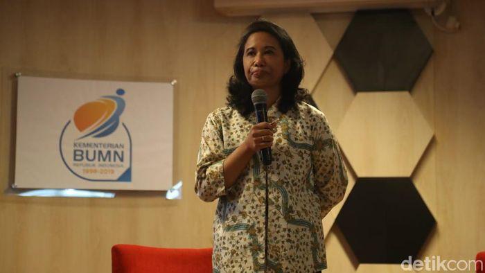 Foto: Hari Terakhir Rini Soemarno jadi Menteri BUMN (Pradita Utama/detikcom)