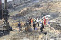Puslabfor Polri Lakukan Olah TKP di Lokasi Ledakan Pipa Pertamina
