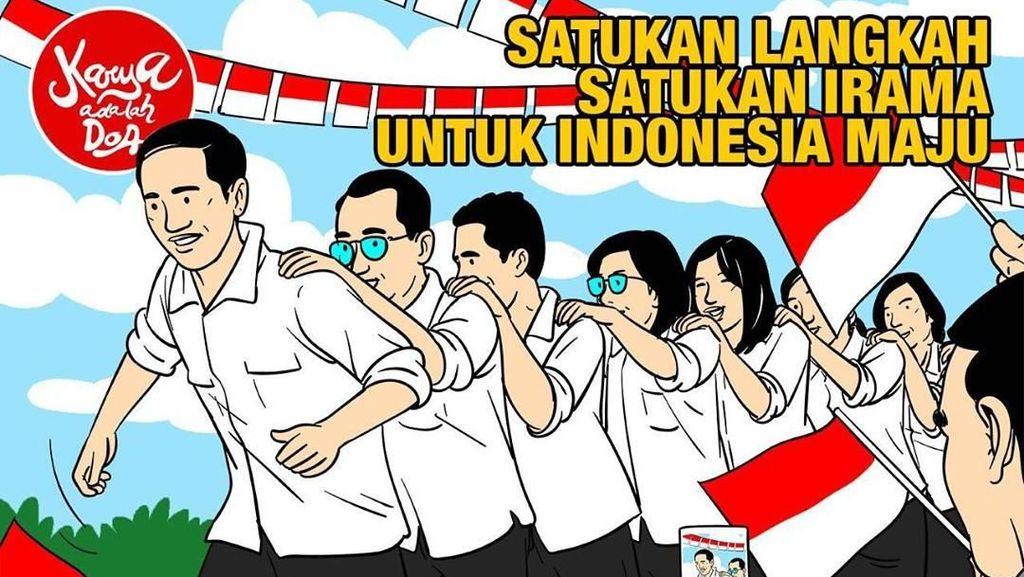 Main Terompah Panjang, Ini Ilustrasi Kabinet Indonesia Maju