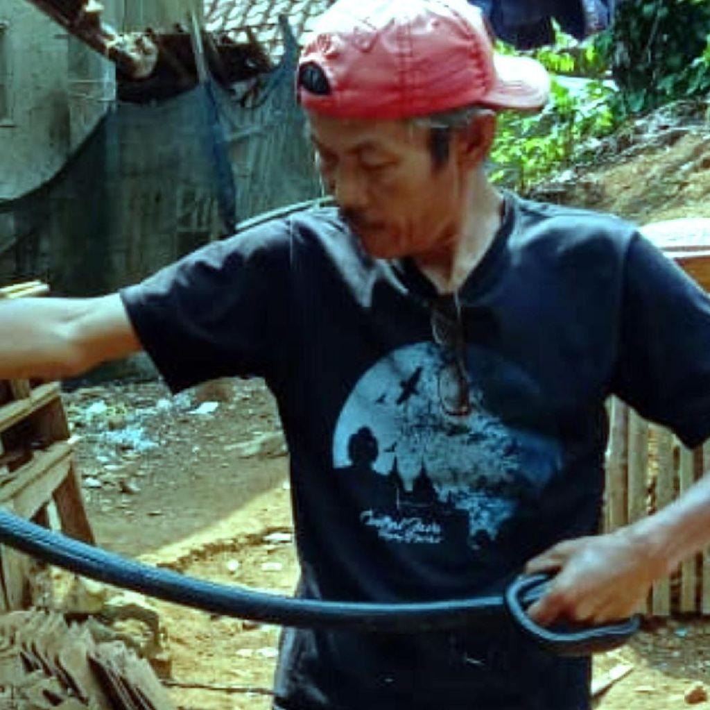 Warga Nyalindung Sukabumi Geger Ular Kobra Masuk ke Rumah