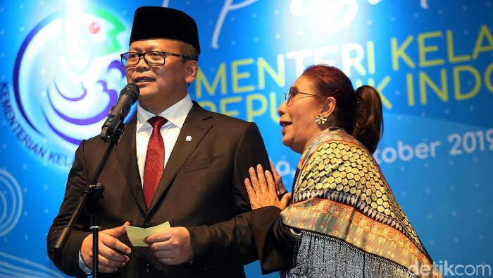 Edhy Prabowo dan Susi Pudjiastuti (Agung Pambudhy/detikcom)
