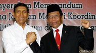 Salam Komando Wiranto dan Menko Polhukam Mahfud MD