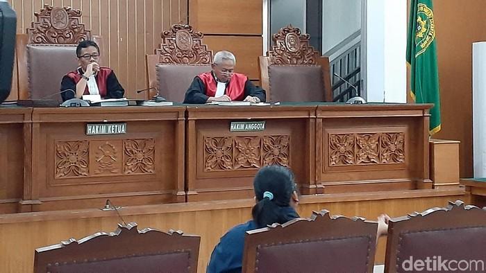 Sidang lanjutan Nunung di PN Jaksel, Rabu (23/10/2019). (Yulida M/detikcom)