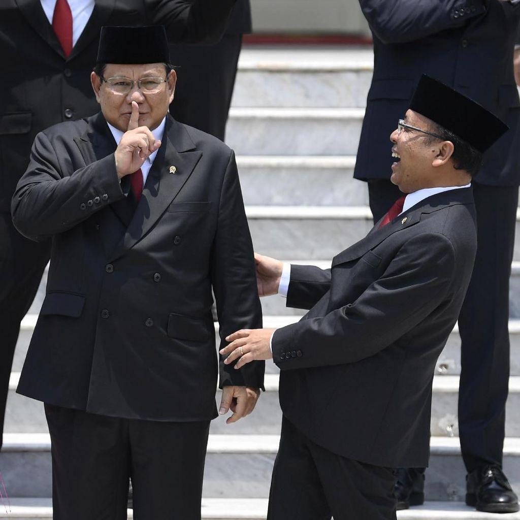 Ekspresi Semringah Menteri Jokowi Usai Pelantikan