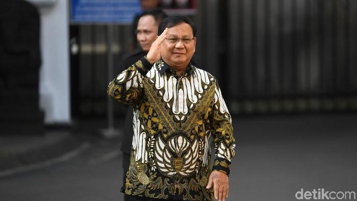 Prabowo Subianto merapat ke Istana jelang pengumuman dan pelantikan menteri Kabinet Kerja Jilid II, Rabu (23/10/2019).