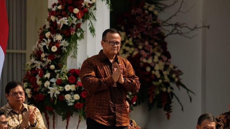 Menteri KKP Edhy Prabowo/Foto: (Andhika Prasetia/detikcom).