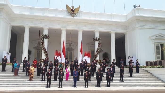 Foto: Para menteri Presiden Jokowi (Andhika Prasetia/detikcom).