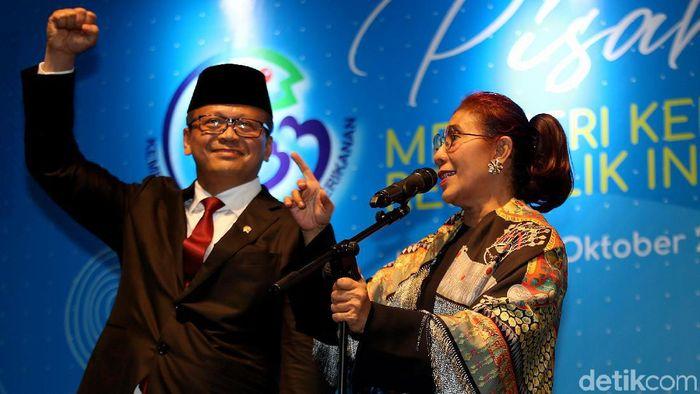 Susi Pudjiastuti bersama Edhy Prabowo/Foto: Agung Pambudhy